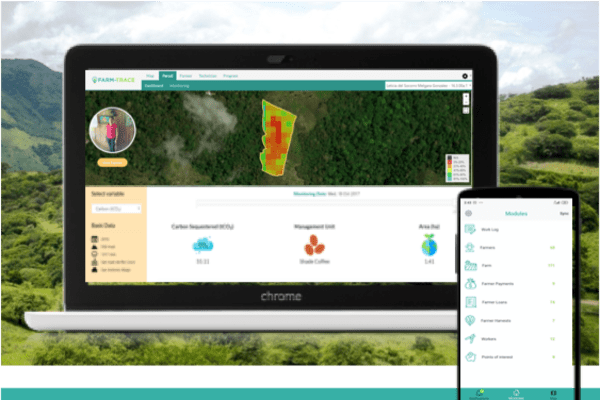Automating smallholder carbon reporting with FARM-TRACE